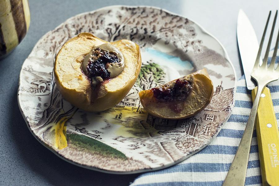 mele al forno con thaina